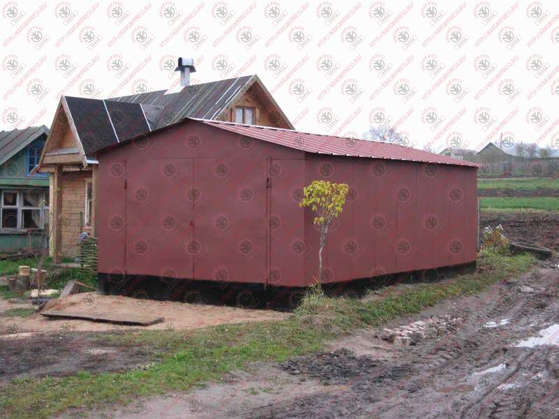 Сборный железный гараж фото обои для гаража купить