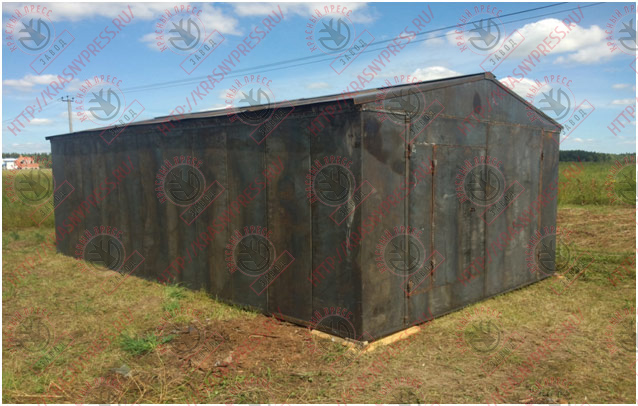 Стандартные металлические гаражи гараж на две машины фото размеры