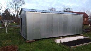 Оцинкованный сборный гараж