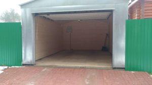 Оцинкованный гараж с подъемными воротами