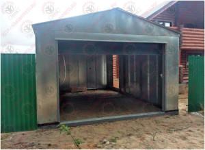 гараж металлический сборный оцинкованный